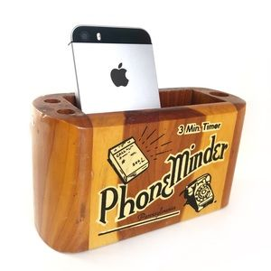 Vintage Phone Minder Notepad Cell Phone Caddy